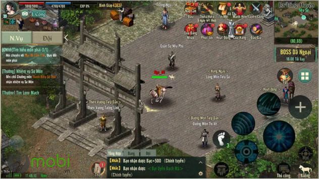 cach nhap code game vo lam truyen ky 1 mobile