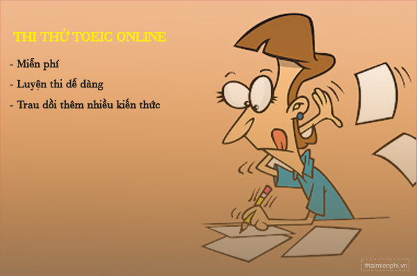 link thi thu toeic online