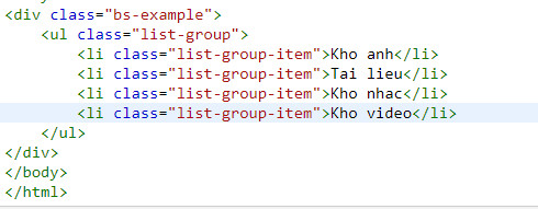 list group trong bootstrap