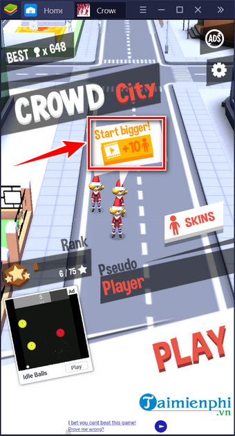 meo choi game crowd city luon chien thang 2