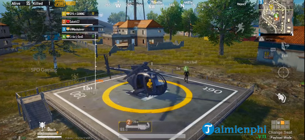 nhung vi tri xuat hien truc thang trong che do payload pubg mobile 2