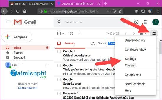Identify 2 gmail messages on your phone 2