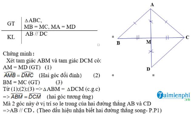 Phương pháp chứng minh 2 đường thẳng song song trong hình học 1