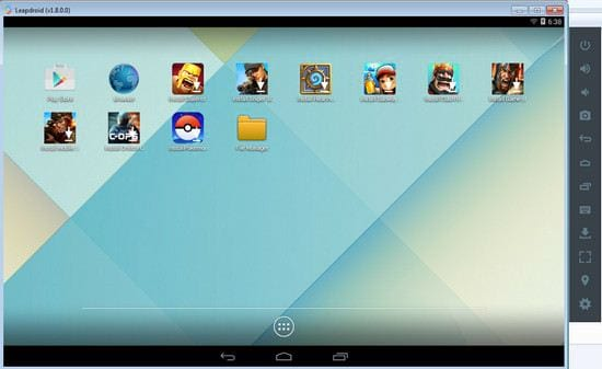 cach su dung leapdroid