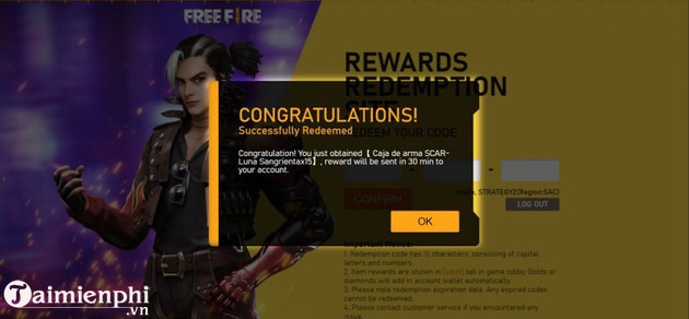 cach nhap code free fire thang 12/2020