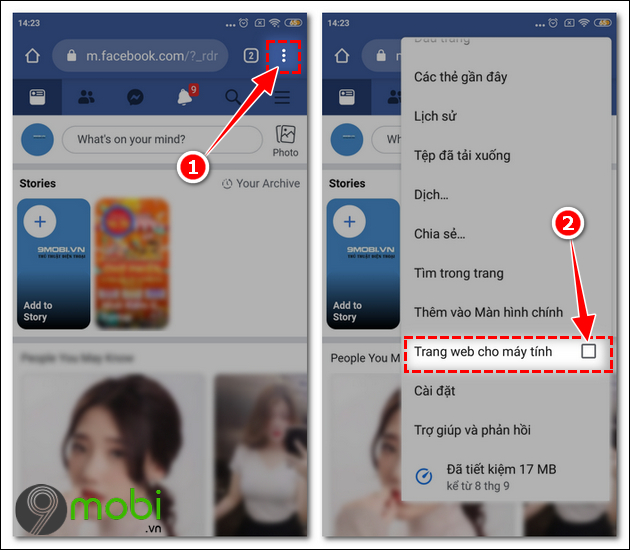 cach dat anh bia facebook bang video tren dien thoai android