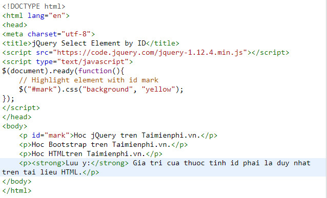 selector trong jquery