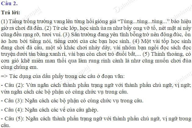 soan bai luyen tu va cau on tap ve dau cau dau phay trang 138 sgk tieng viet 5 tap 2 soan tieng viet lop 5 2