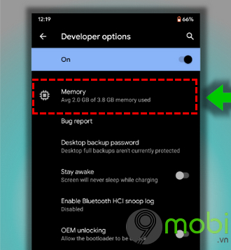 cach check ram usage tren android 10 2