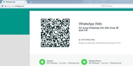 cach dung WhatsApp tren may tinh