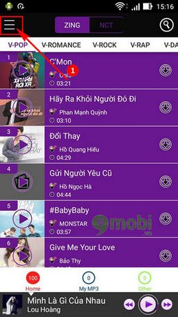 download nhac chat luong cao cho android