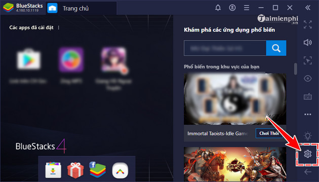 Tang toc Bluestacks gia lap Android 1