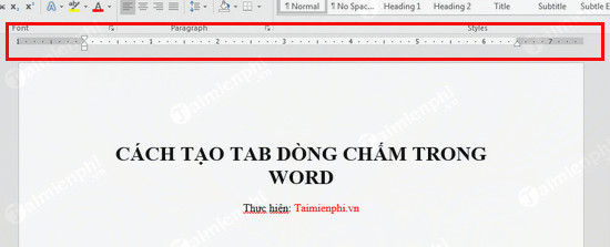 tao dong cham word