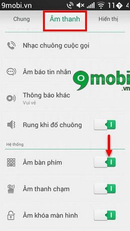 tat am thanh ban phim oppo