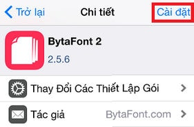 thêm font Bytafont cho iphone