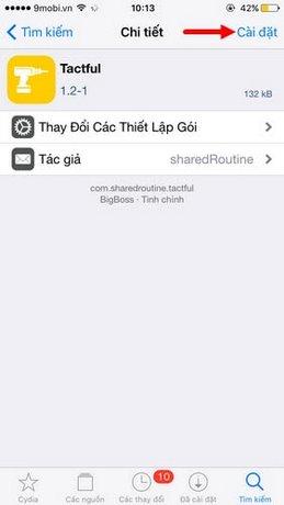 them 3D Touch cho Cydia
