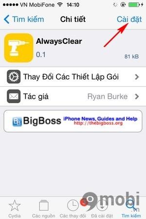 Tao nut xoa thong bao tren iPhone