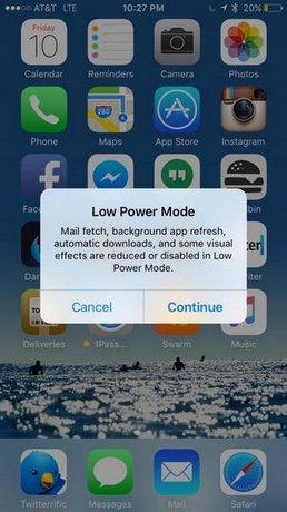 tiet kiem pin tren iOS 9