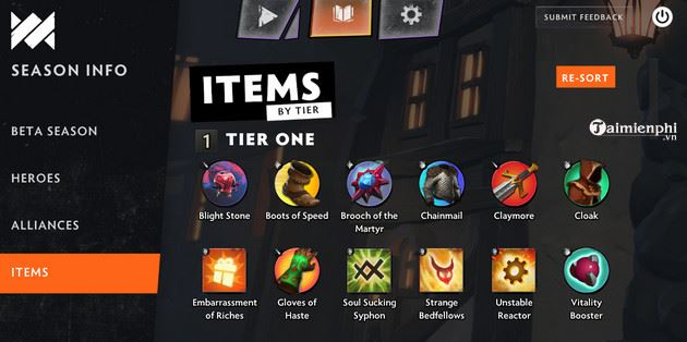 tong hop item cua game dota underlords dota 2 auto chess 2