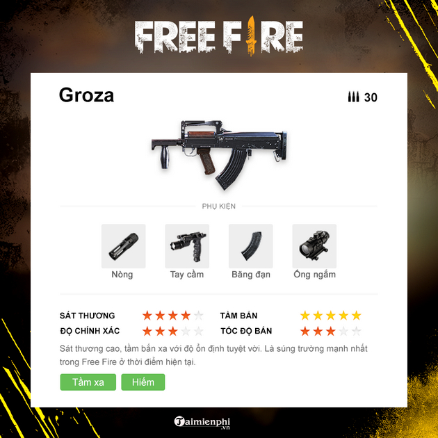 top 5 sung manh nhat trong garena free fire 2