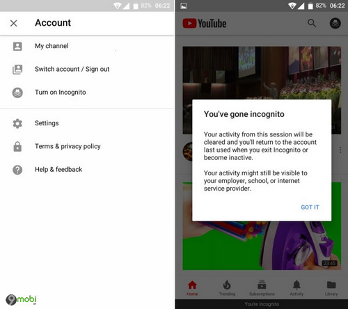 ung dung youtube cho android som co che do an danh 2