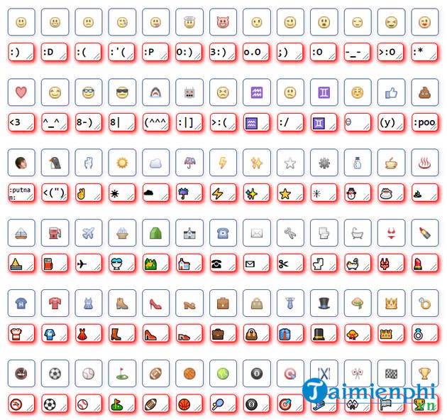 emoji tren facebook dep nhat