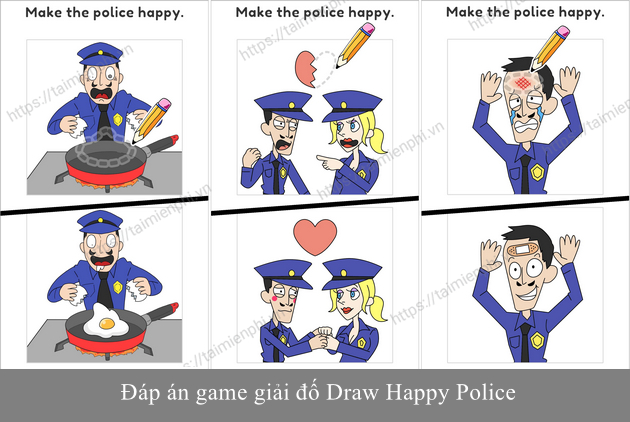 dap an game draw happy police