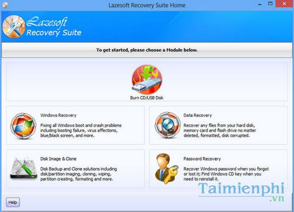 Lazesoft Recovery Suite Home