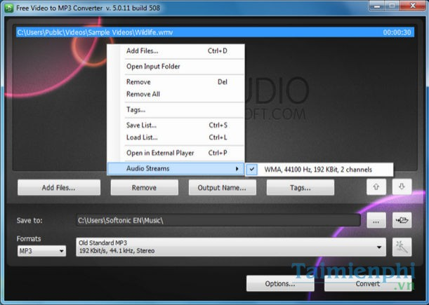 free video to mp3 converter v 4.3 2 build 804