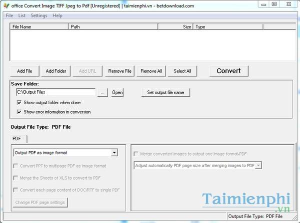 Office Convert Image TIFF JPEG to PDF Free