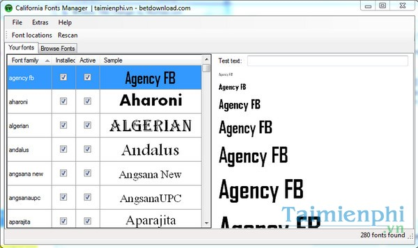 California Fonts Free Font Manager