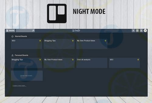 Trello Night for Chrome