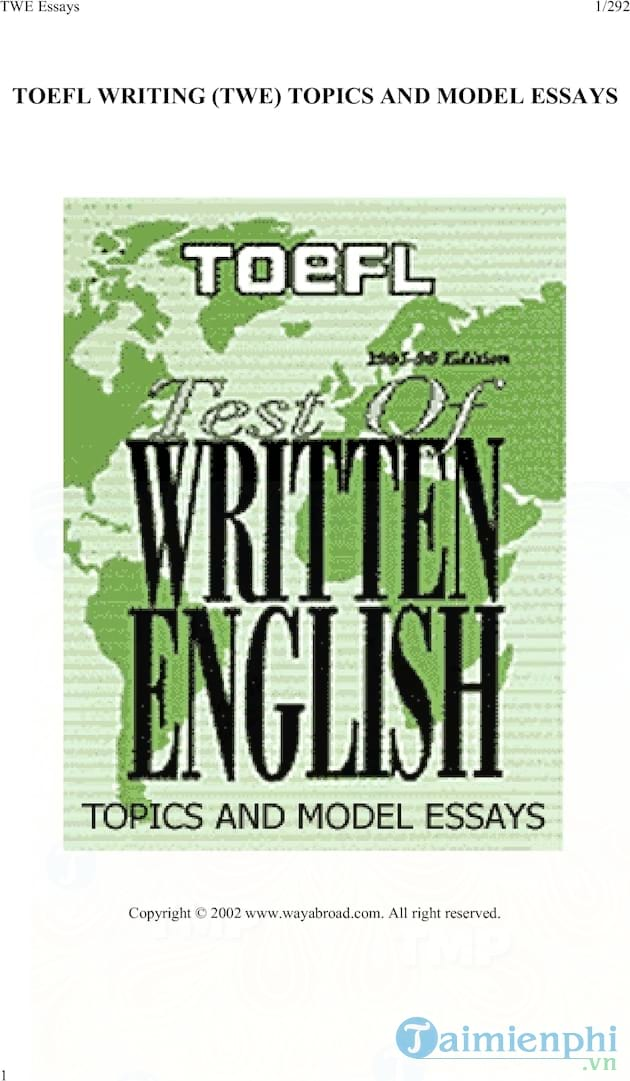 185 TOEFL Writing