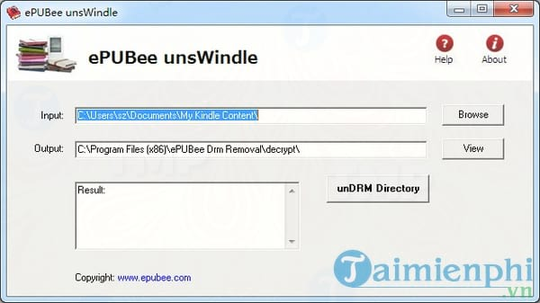 ePUBee Kindle DRM Removal