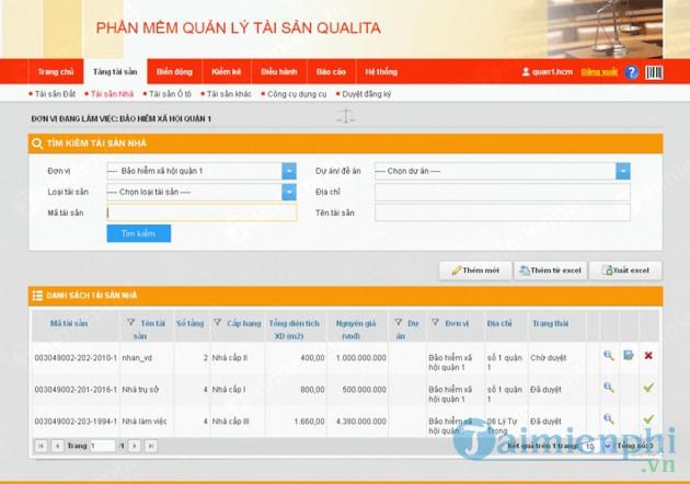 Phần mềm quản lý tài sản Qualita