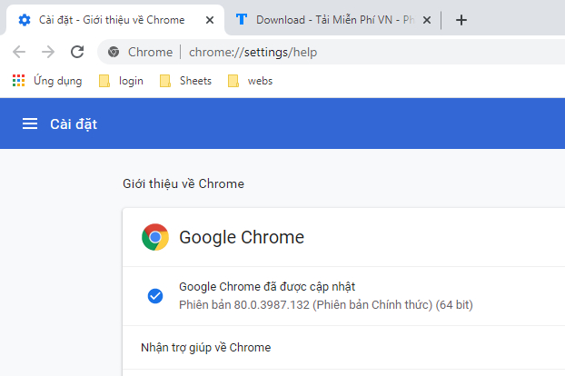 tải google chrome 80.0.3987.132