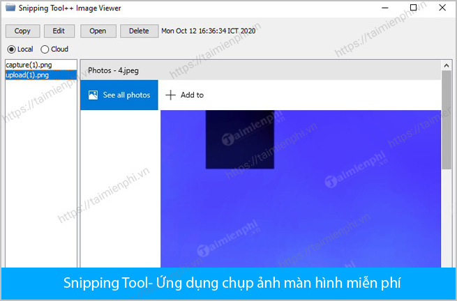 Download Snipping Tool cho win 10